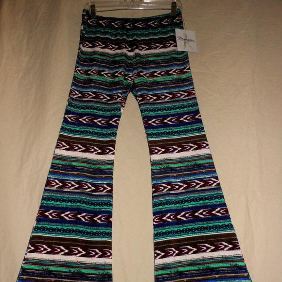 145a0369 Wrangler Pants | M Nwt Southwest Bell Bottom Flare | Poshmark